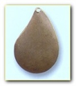 Picture of CB1P Small domed teardrop, pierced